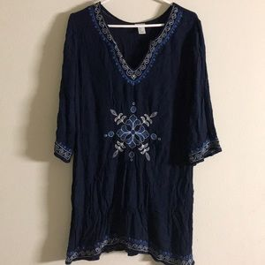 FOREVER 21 EMBROIDERED TUNIC